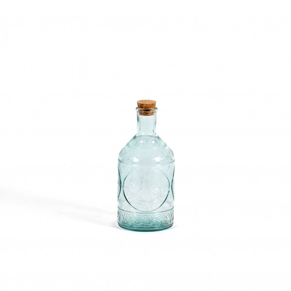 Glasflasche Tuscany H19,5cm D9cm aus 100% Recyclingglas