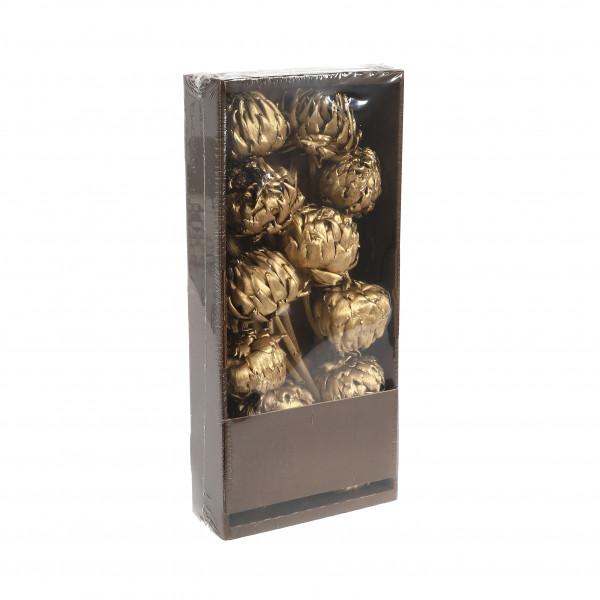 Artichoke gold Tray x 10 Stück