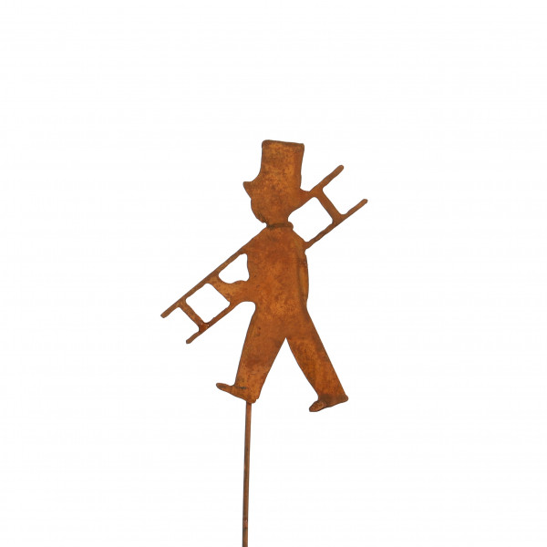 Metall-Stecker rost, Schornsteinfeger 10x8x30 cm