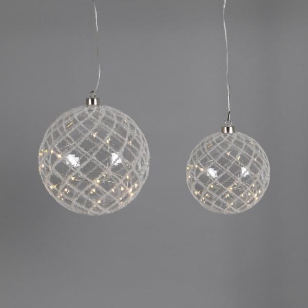 Deko-Kugel Gitternetz , Glas, LED z.hängen