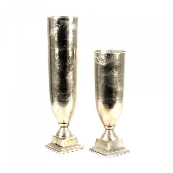 Pokal Thira Aluguss,silber, 11 x11x28 cm