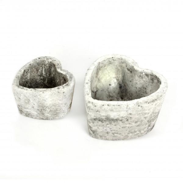 Keramik-Herz-Topf Rustiko