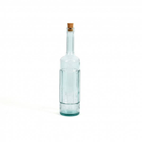 Glasflasche Tuscany H34cm D8cm aus 100% Recyclingglas