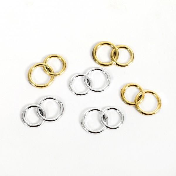 Streuteile Ringe ca. 2 cm Blt. x 6 Stück