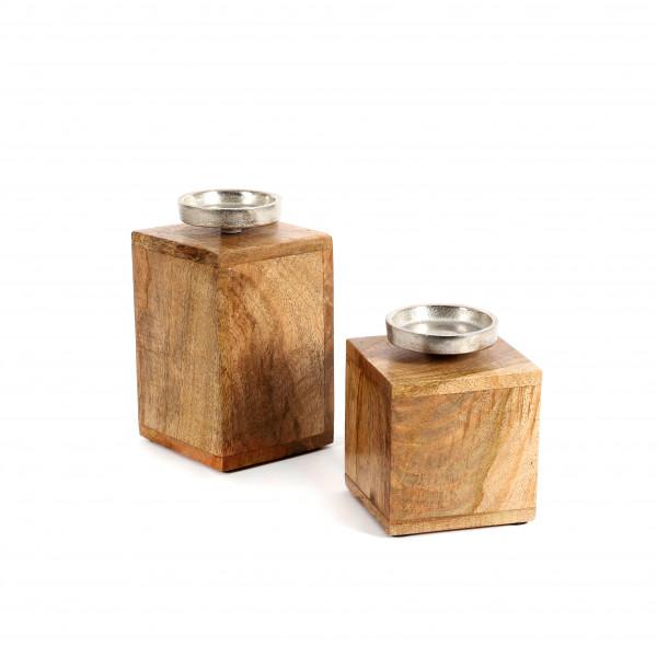 Kerzenleuchter, Holz, 1 Tülle 85mm Dia.