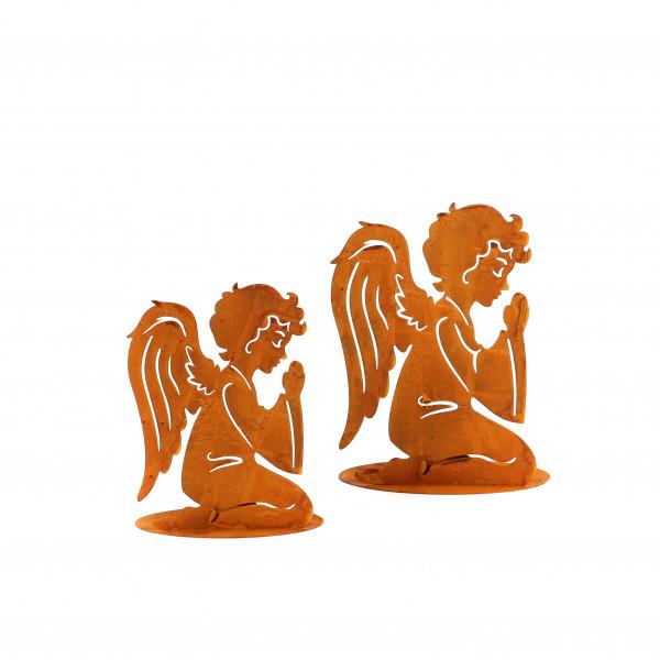 Betender Engel mit Tellichthalter 20 cm rost
