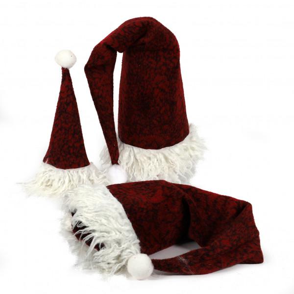 Weihnachtsmütze Lui Stoff, rot meliert