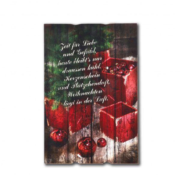 Wandbild Weihnacht MDF, 40x60x1,8 cm