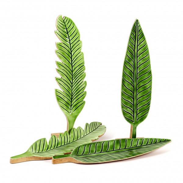 Standdeko Canna Holz,grün, 2 Mod sort. 50x17x3/50x15x2,5 cm