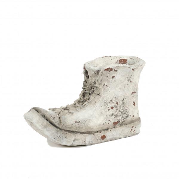 Magnesia Pflanz-Schuh, 37x17xh23 cm weiß-antik