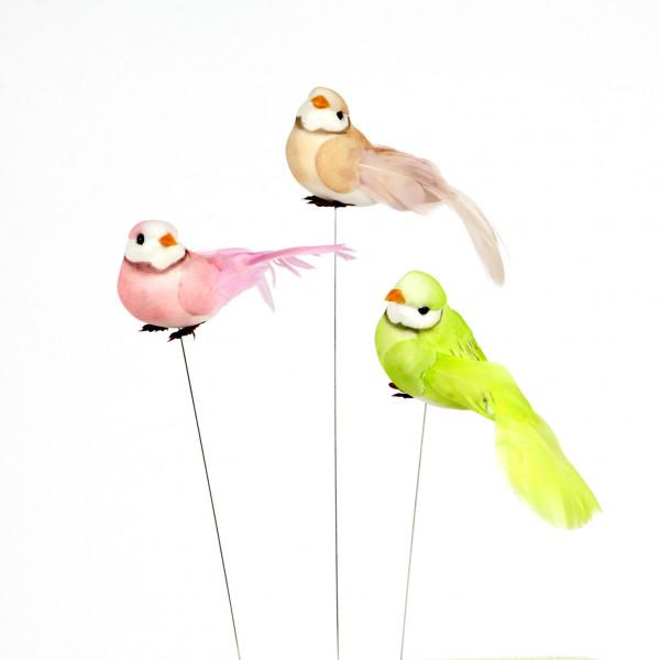 Deko Vögel Mushroom 3Modelle/2 Farben-pastell