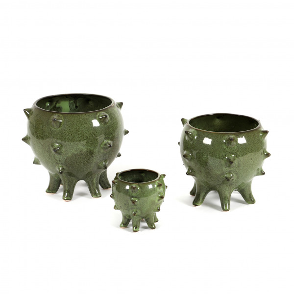Keramik Topf Nodo auf 6 Füßen