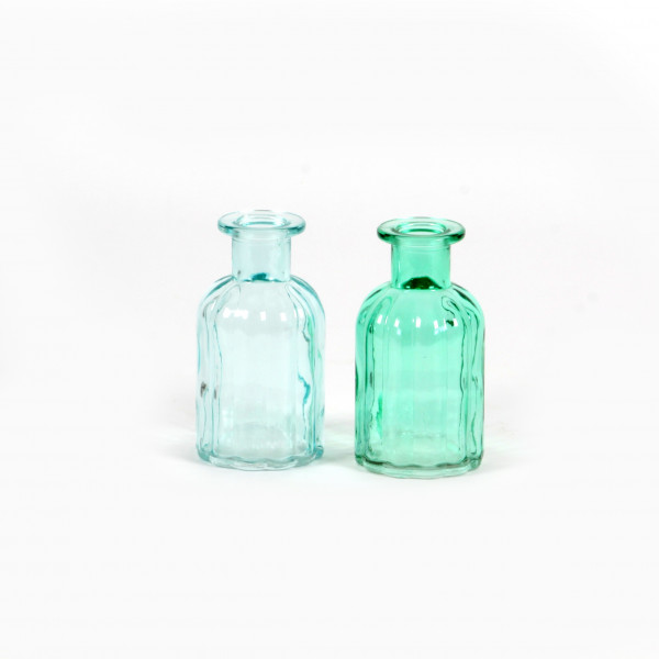 Glasflasche Style D 5,5 x H 10 ,5 cm mint/hellblau