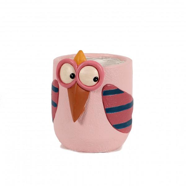 Magnesia Pflanz-Topf funny bird 21xh20 cm, rosa