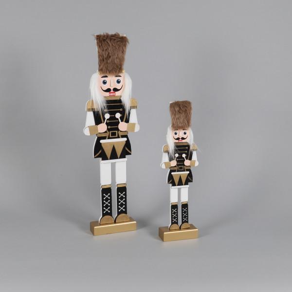 Nussknacker Erwin , Holz, m.Trömmelchen gold-weiß-schwarz