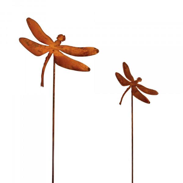 Stecker Libelle Metall,rost, 1 10x21 cm