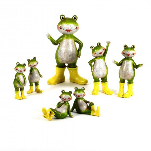 Poly-Frosch mit gelben Gummi-Stiefeln