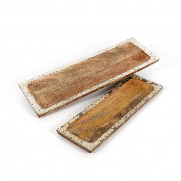 Tablett Patna Mangoholz,light burnt- platin