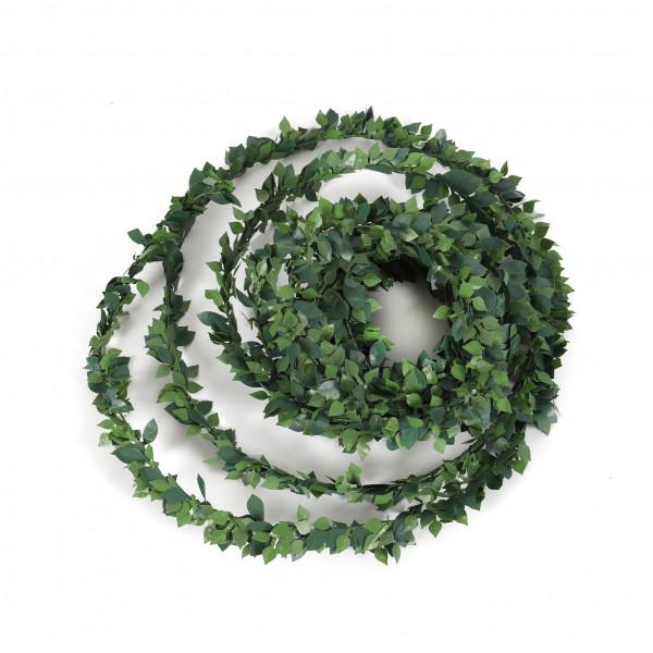 Rosenblattgirlande,750 cm,grün