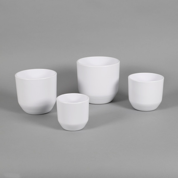 Keramik Topf Luisa, weiß-matt