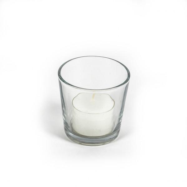 Glaskübel konisch klar H 7 cm m, D7cm