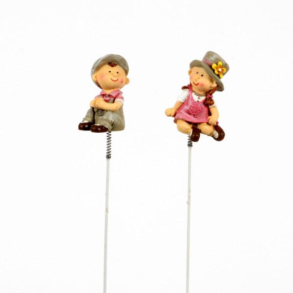 Stecker Luca&Paulina Poly, 2 M od. 5,5x19 cm