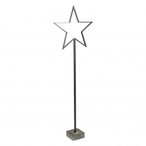 Metall Stern Astro mit Beton fuß 160 cm anthrazit