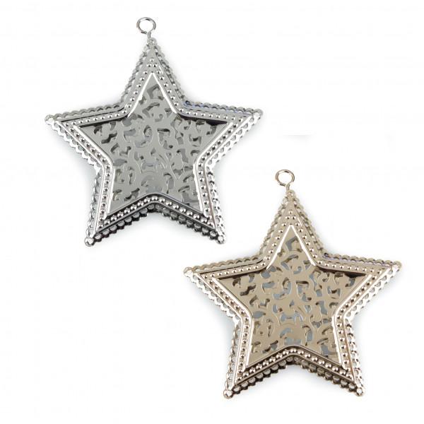 Stern mit Reliefstanzung 7,5cm 16 Stück