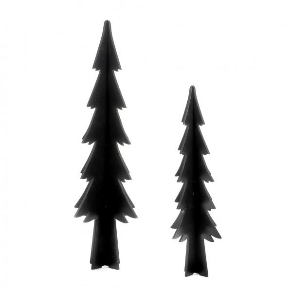Baum Legno Holz, schwarz 45 cm