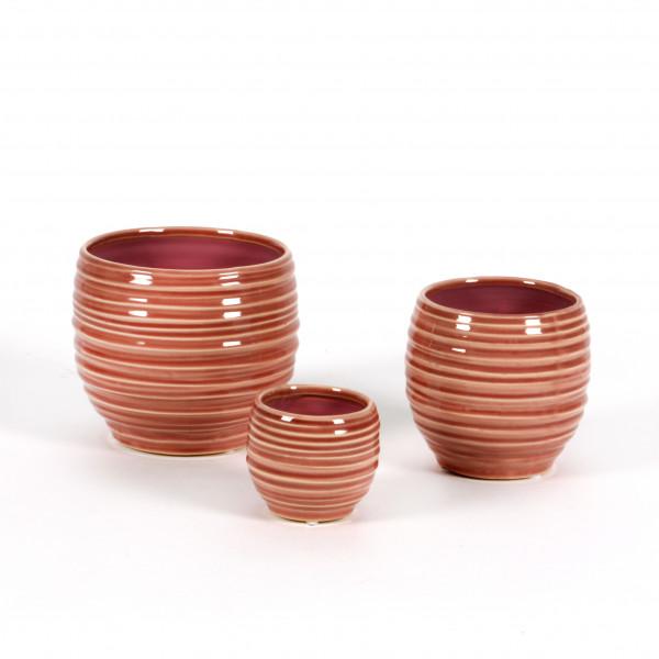 Keramik Rillentopf Aurora