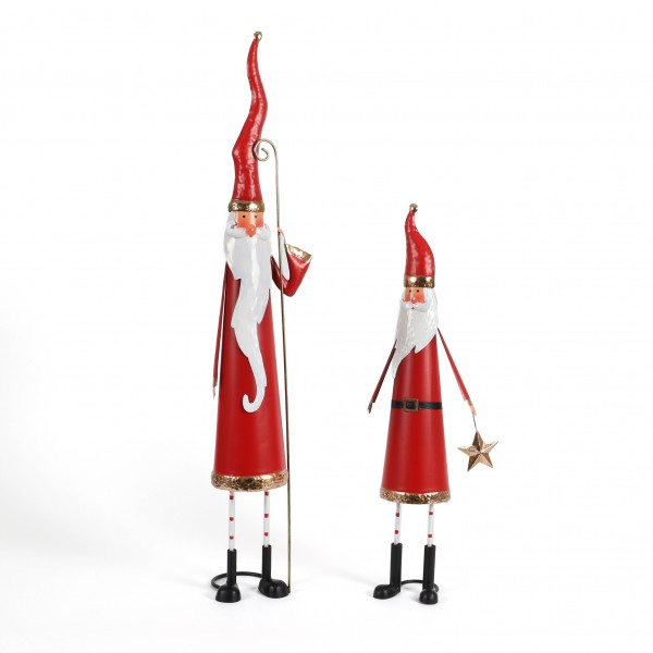 Santa stehend dünn, Metall
