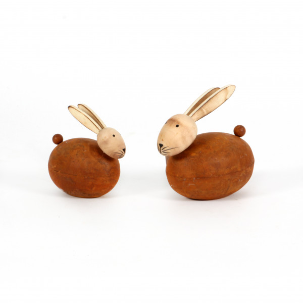 Hase Charlie Metall-Holz