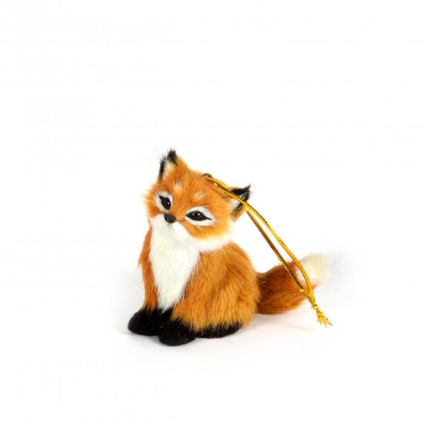 Fuchs sitzend 6x6x7 cm Kunstfell
