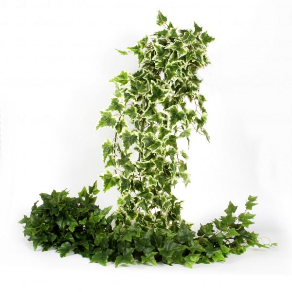 Efeuhänger x 11, 137cm, 280 Bl att, grün-weiß