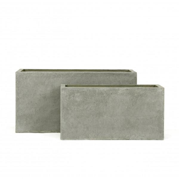 Creastone Pflanzkasten rechteckig, grau