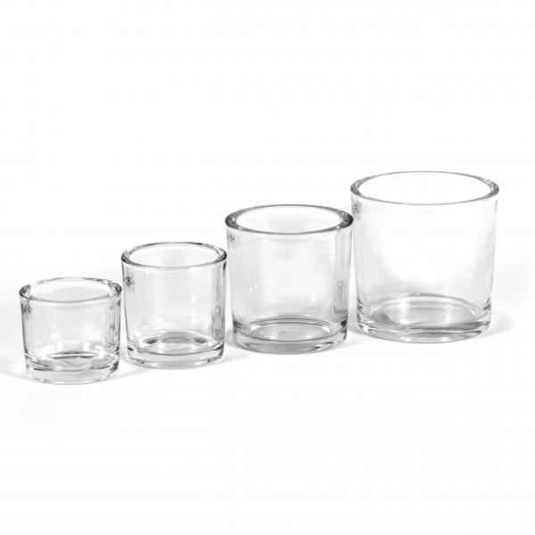 Glaskübel klar schwere Qualität