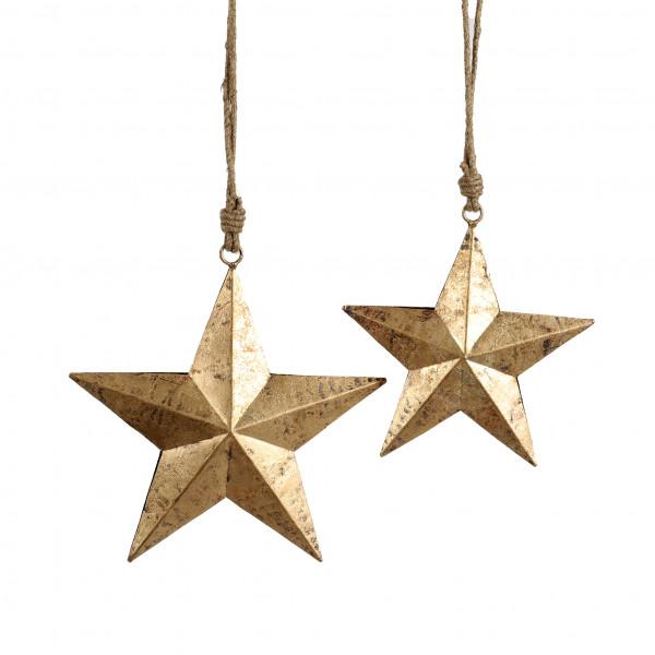 Stern zum hängen Arundo Metall,altgold