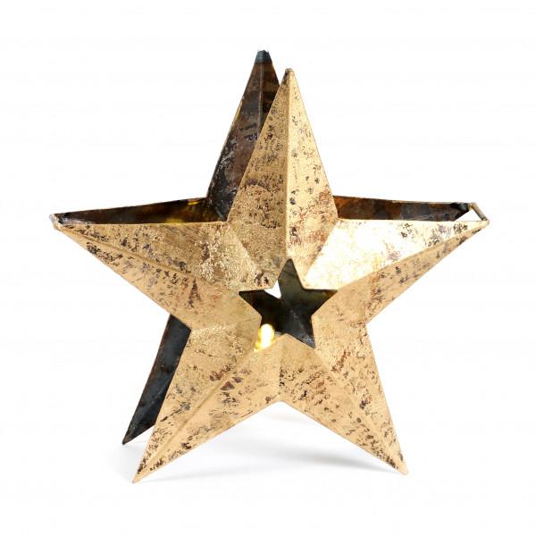Sternwindlicht Arundo Metall,altgold 24x24x3,5 cm