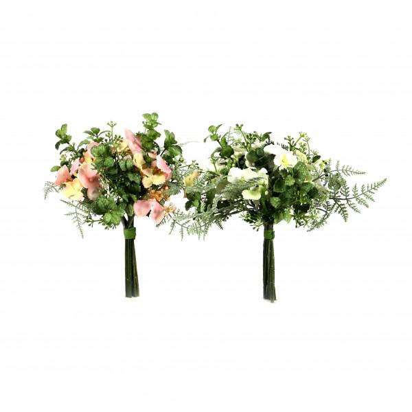 Hortensie/Fittonia-Bouquet, 25 cm