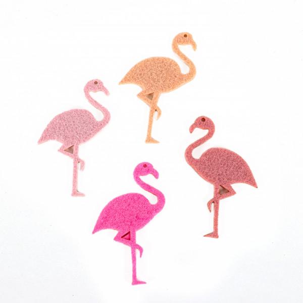 Filzsortiment Flamingo 16 Stück i Beutel rose , pink