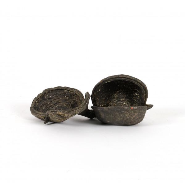 Badam lose schwarz / gold (Polybeutel x 10 Stück