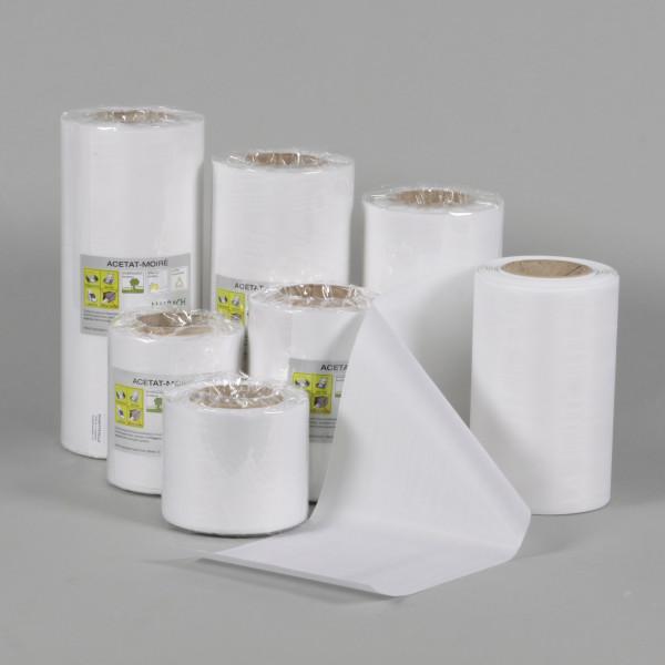 Kranzband/Schleifenband Moire weiß
