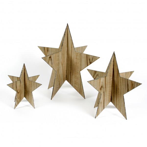 Holz Aufsteller Stern Glimmer
