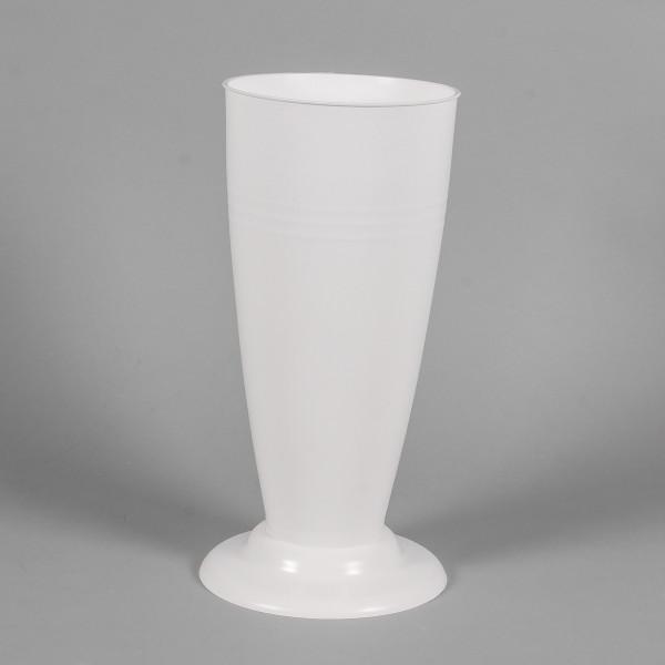 Floristen Gebrauchsvase V Form D17 H35 cm weiß