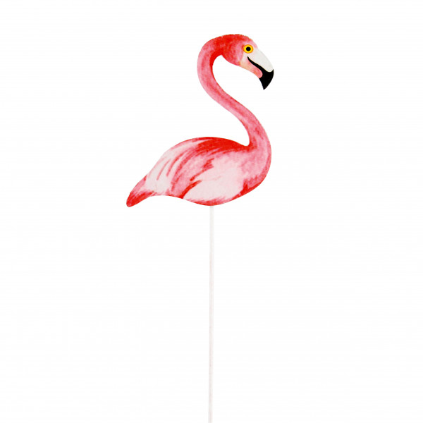 Flamingo am Pick rosa B 6,5 cm H 29 cm Blt. 18 Stück