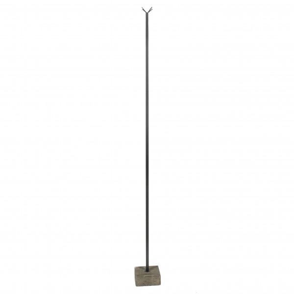 Stange mit Haken auf Betonfuß ,anthrazit, 180 cm,Metall