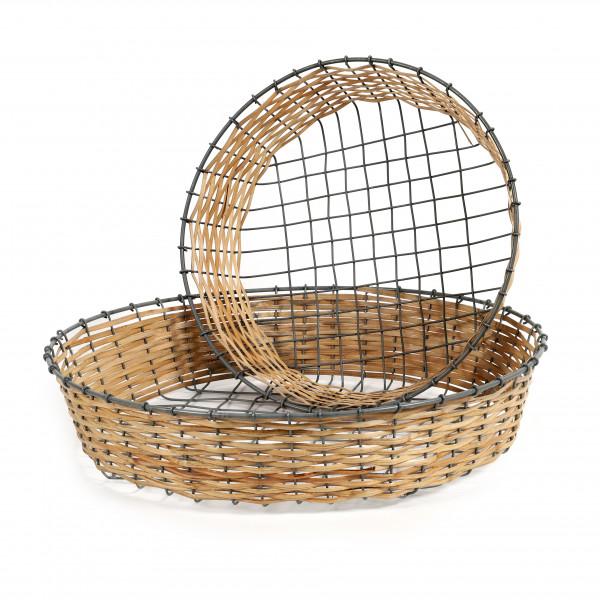 Korbteller Rotin Rattan-Draht
