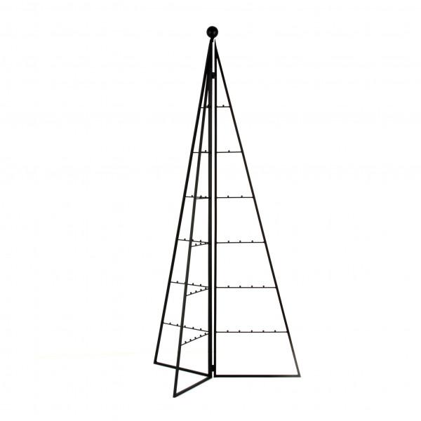 Pyramidendisplay,klappbar, Met all,schwarz, 120 cm