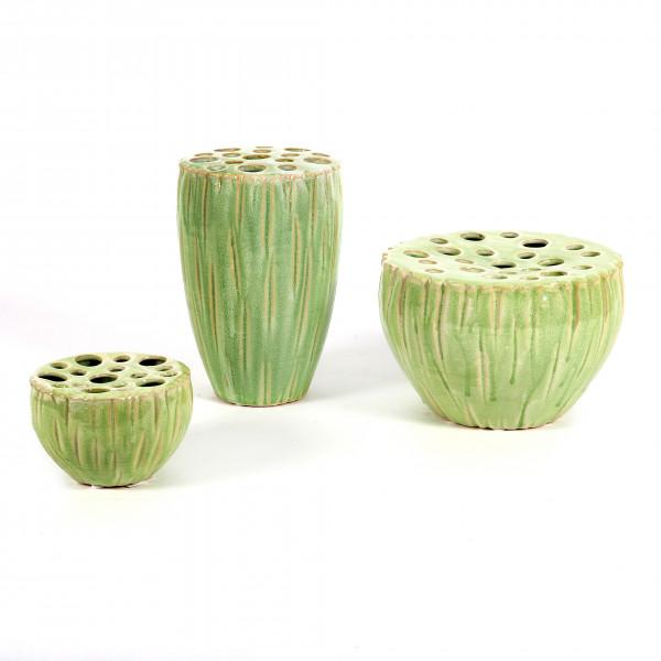 Keramik Vase Lotus