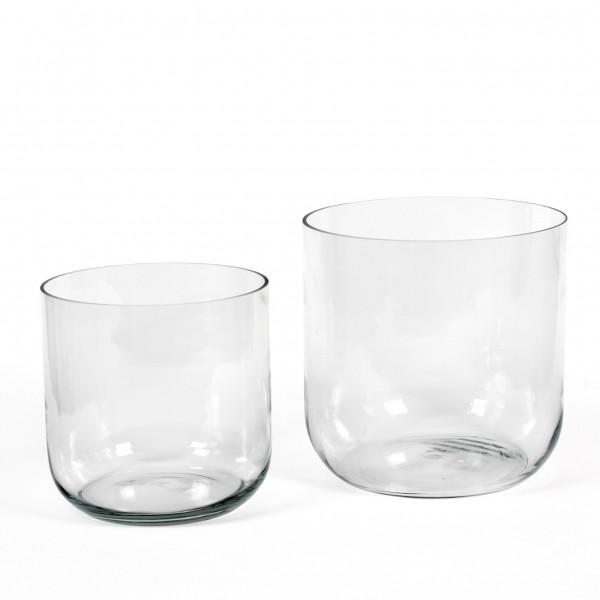 Glaskübel Simple runde Form kl ar
